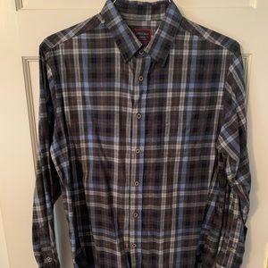 Untuckit Brand Mens Plaid button-down dress shirt